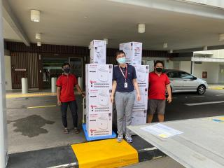 Sharp air purifiers delivered to Ng Teng Fong Hospital
