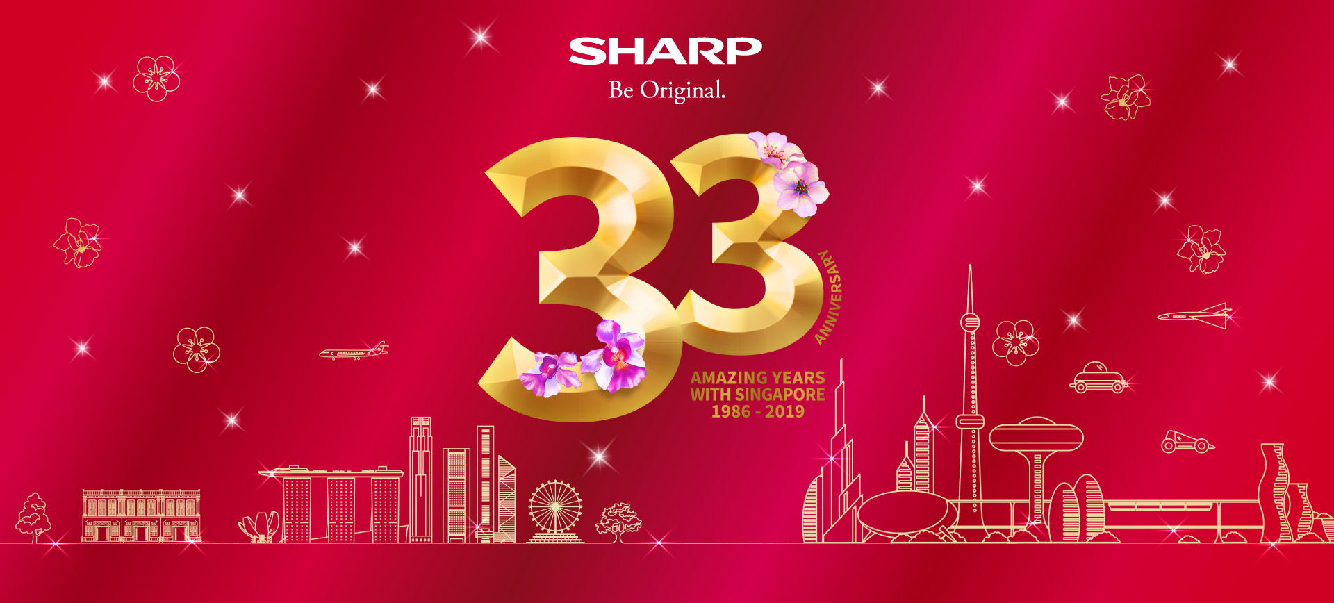 Sharp 33 Anniversary Amazing years with Singapore